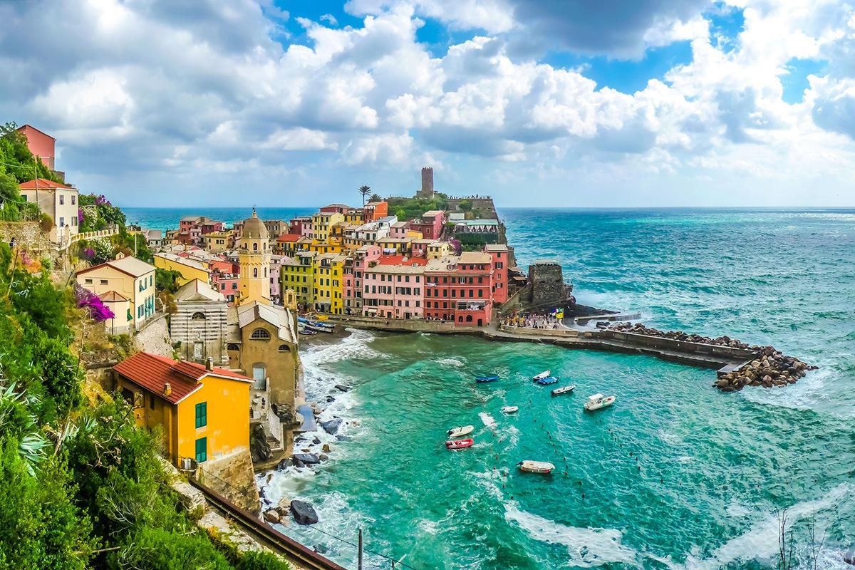 Beautiful view of Vernazza,Liguria, Italy