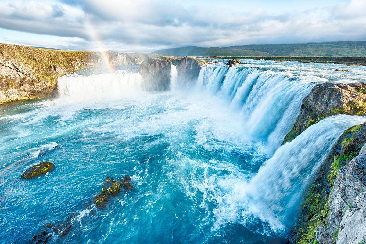 Godafoss Falls, Iceland - waterfalls