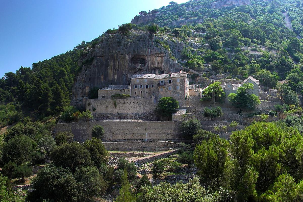 Blaca Monastery on island Brač in Croatia