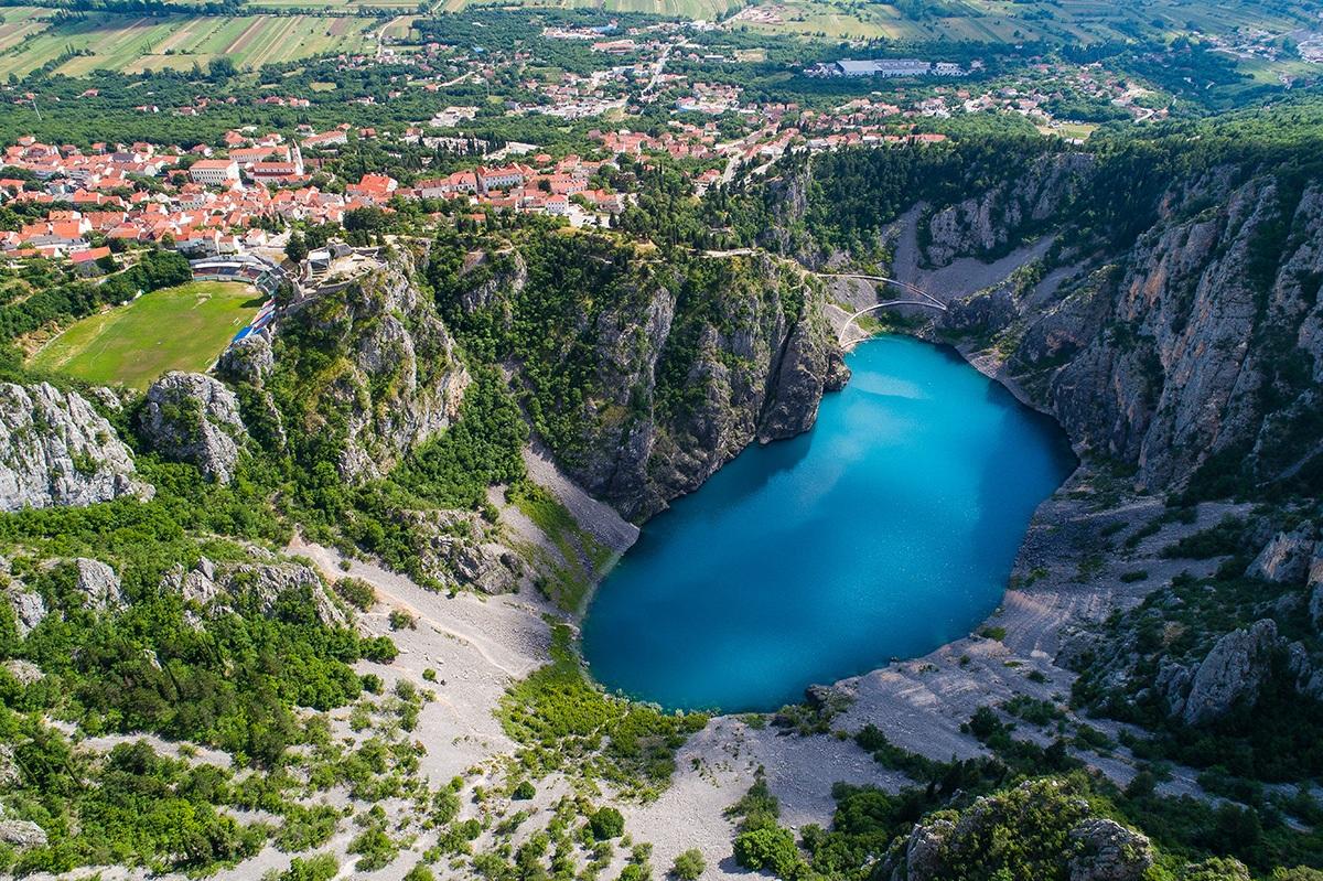 Blue Lake in Imotski, hidden and uncrowded Croatia