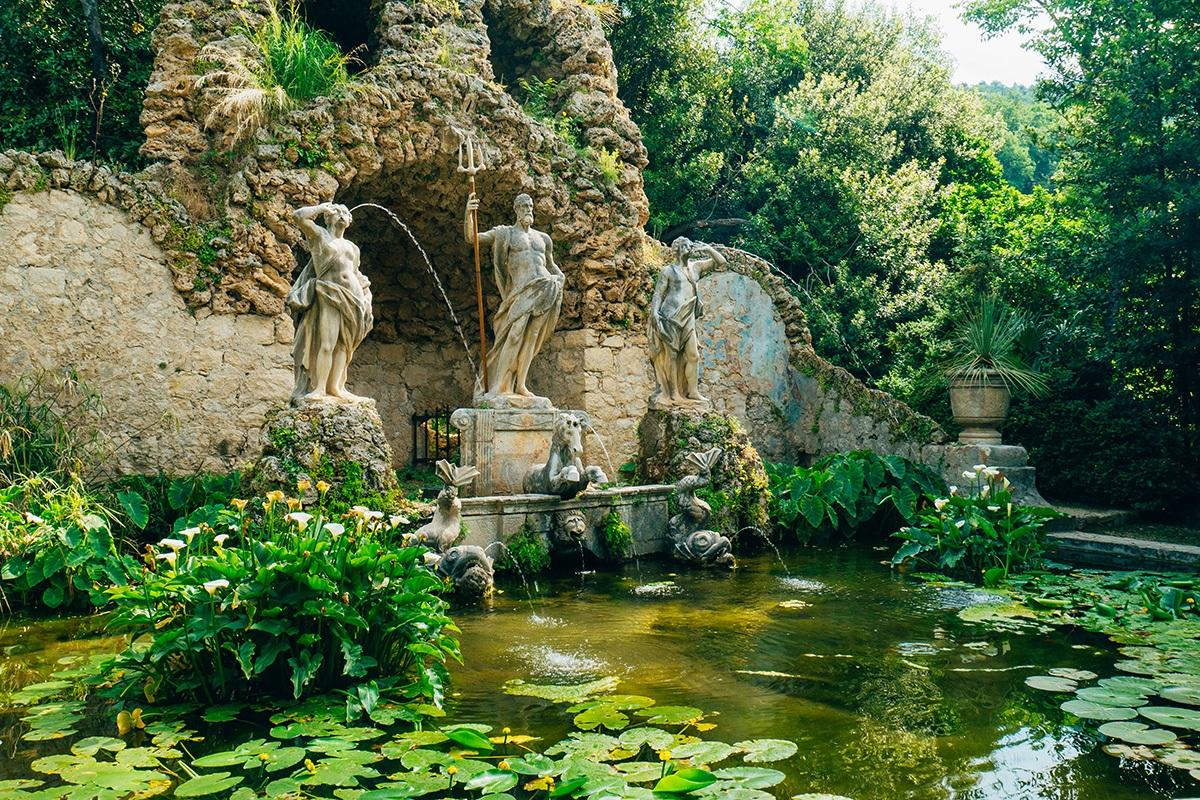 Fontana Neptun in Trsteno Arboretum