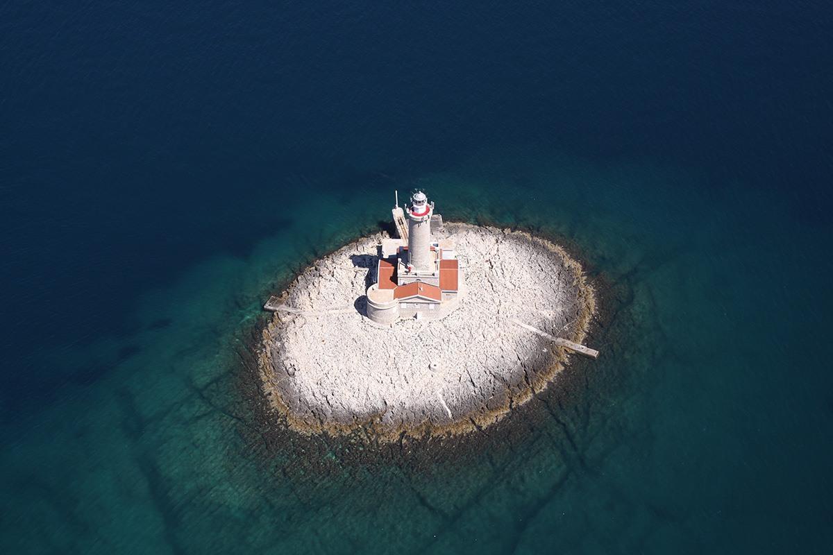 Porer lighthouse, Croatia, adriatic sea