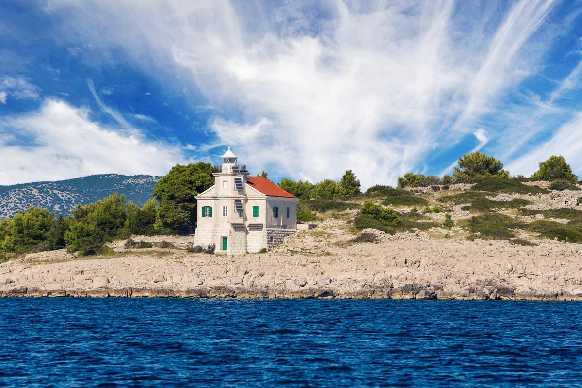 Prišnjak lighthouse, croatia, adriatic sea