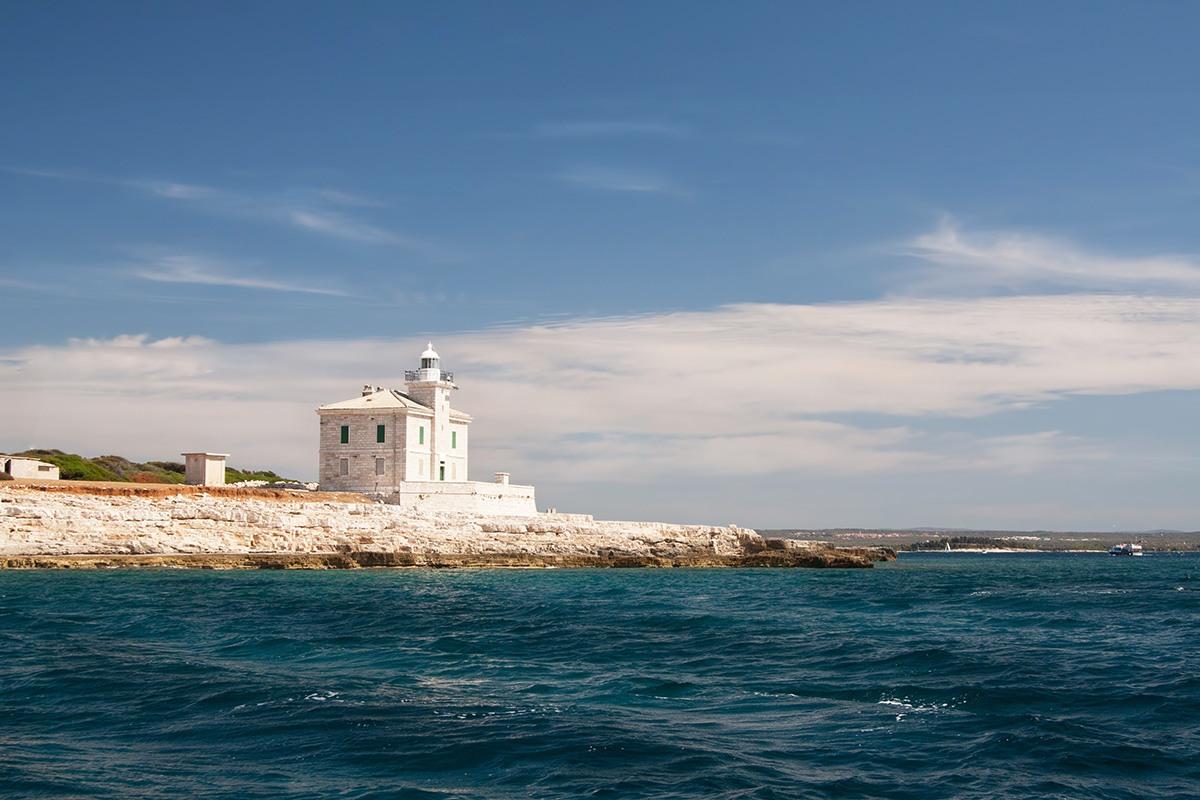 Rt. Peneda lighthouse on the island Brijuni- Croatia