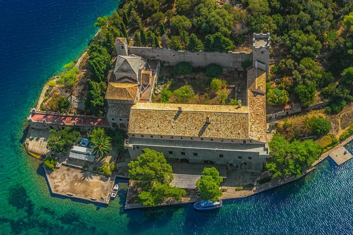 Saint Mary benedictine monastery national park Mljet, Croatia.