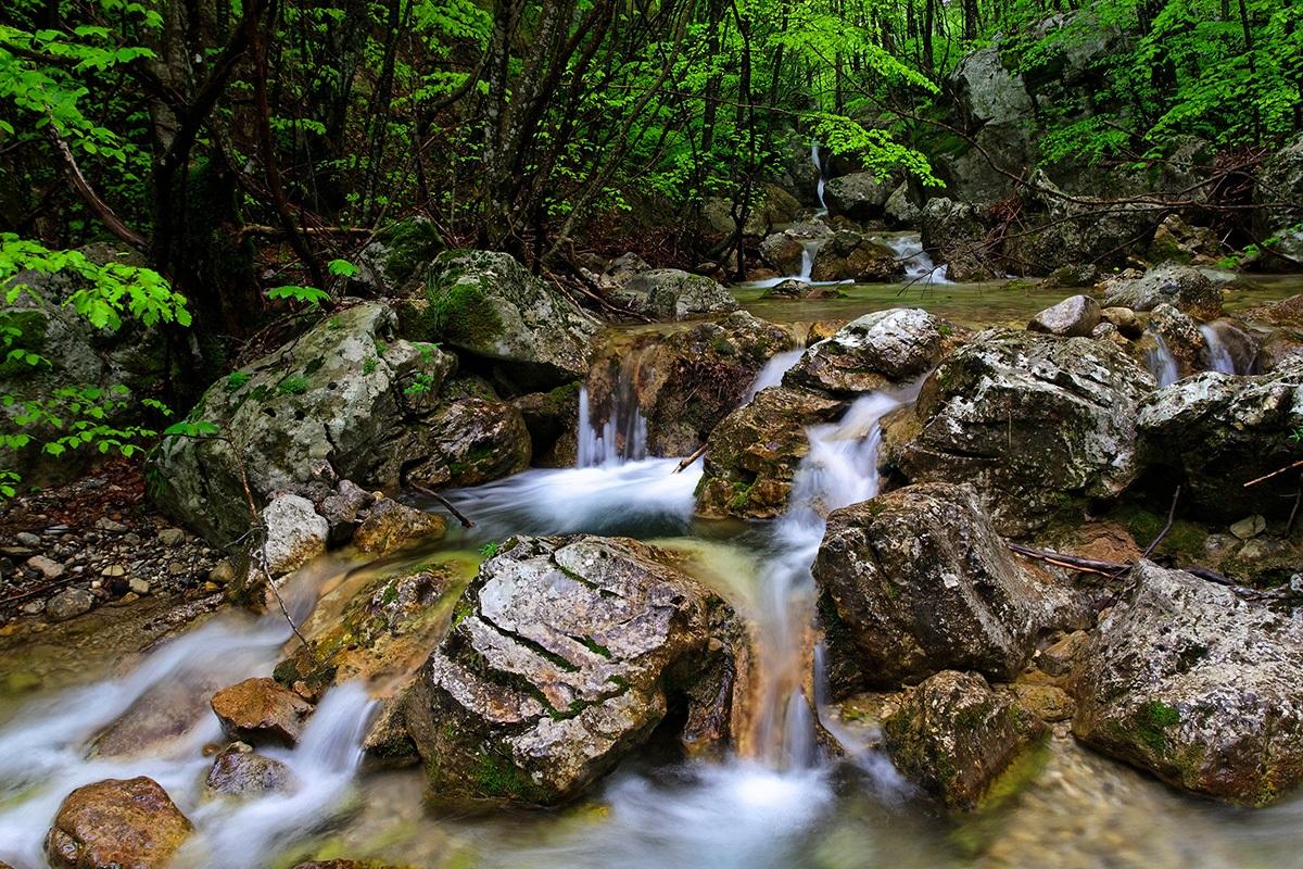 river in paklenica, velebit croatia