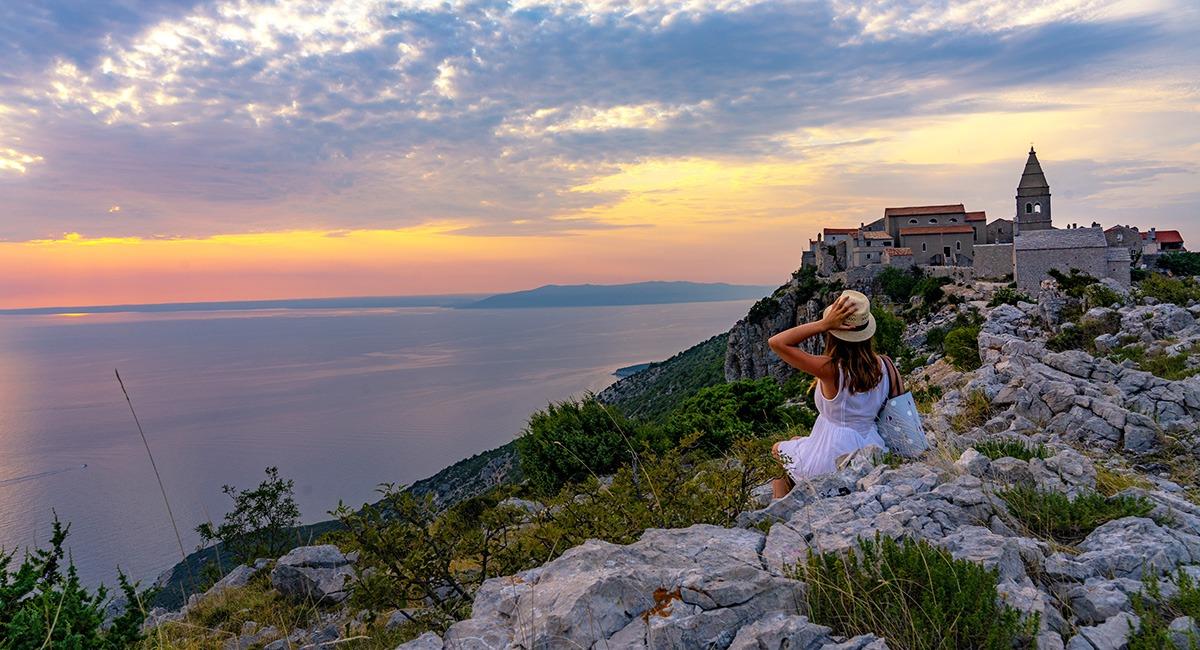 croatia town sunset