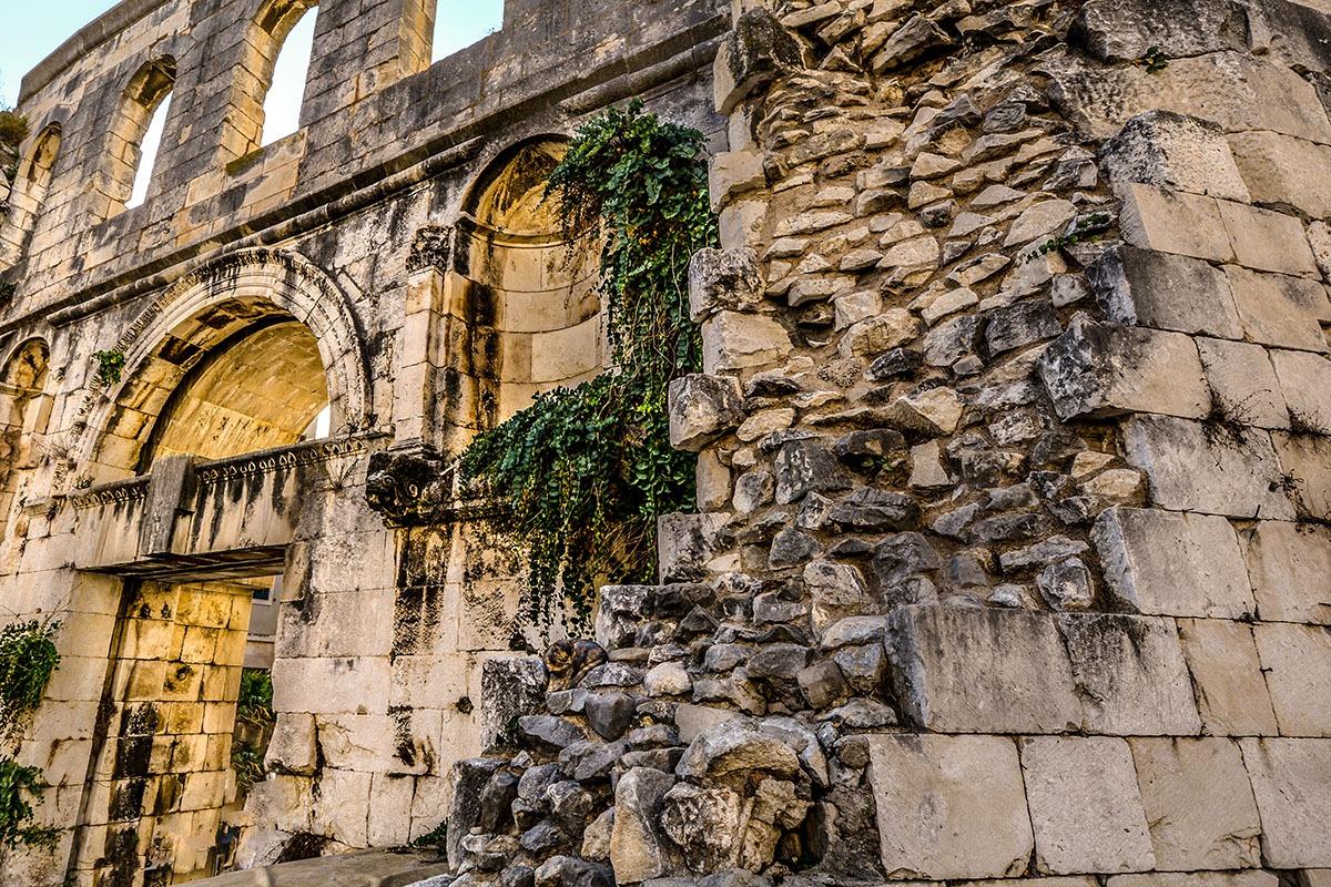 Ancient walls of Diocletian's Palace, Split Croatia