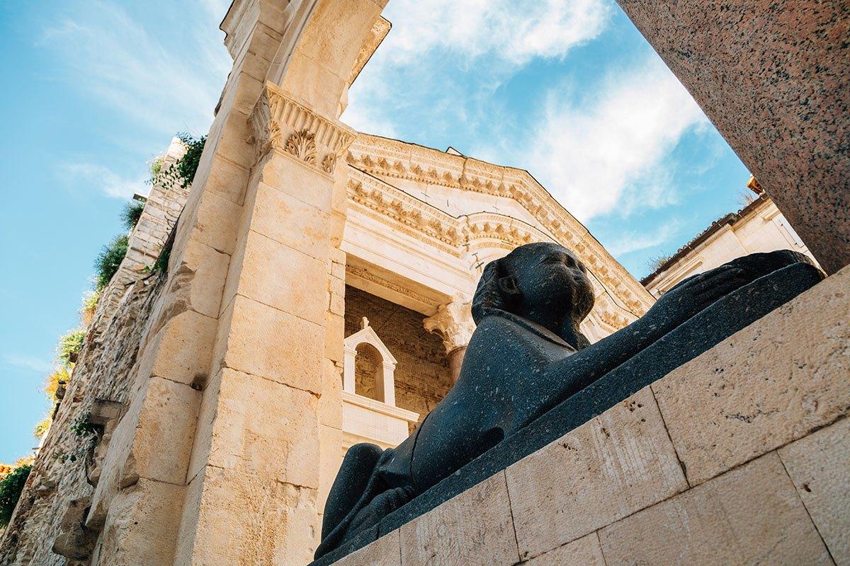 Diocletian's Palace Sphinx, Split Croatia
