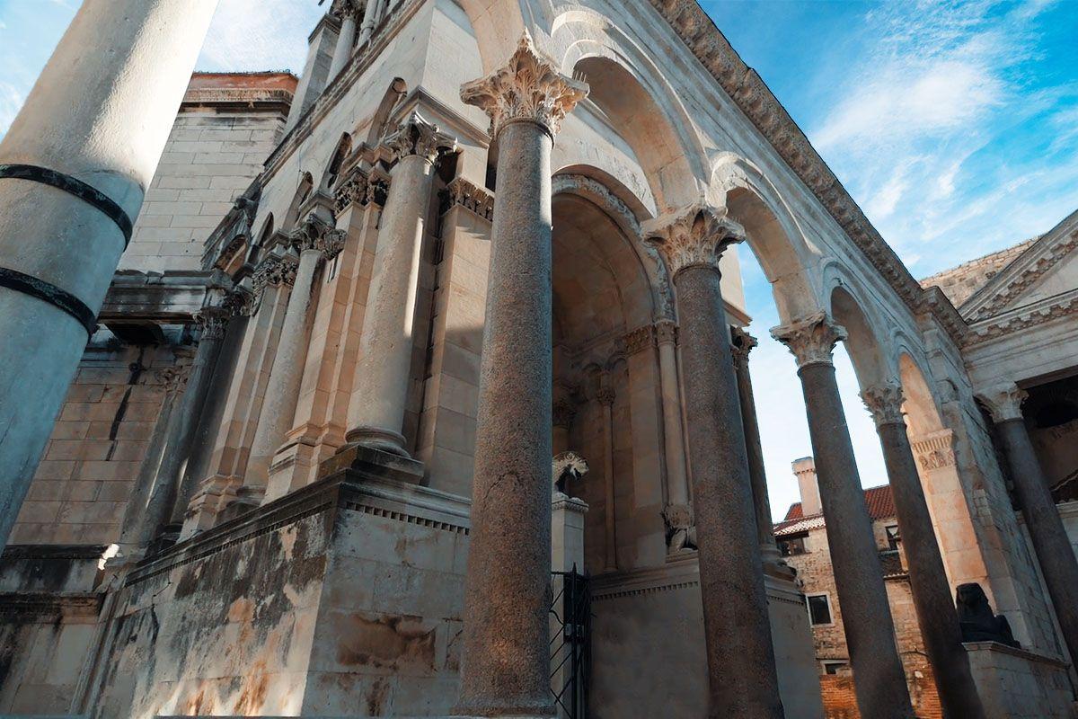 Diocletian's Palace, sv.Dujmo zvonik, mausoleum, Split, Croatia