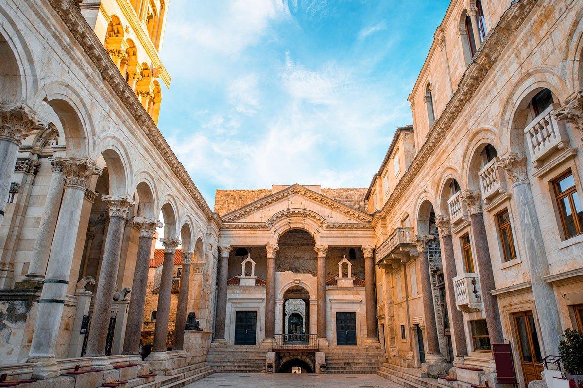 Diocletian's Palace. Peristyle, Split, Croatia