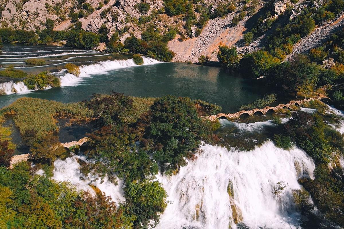 waterfalls in croatia on river krupa