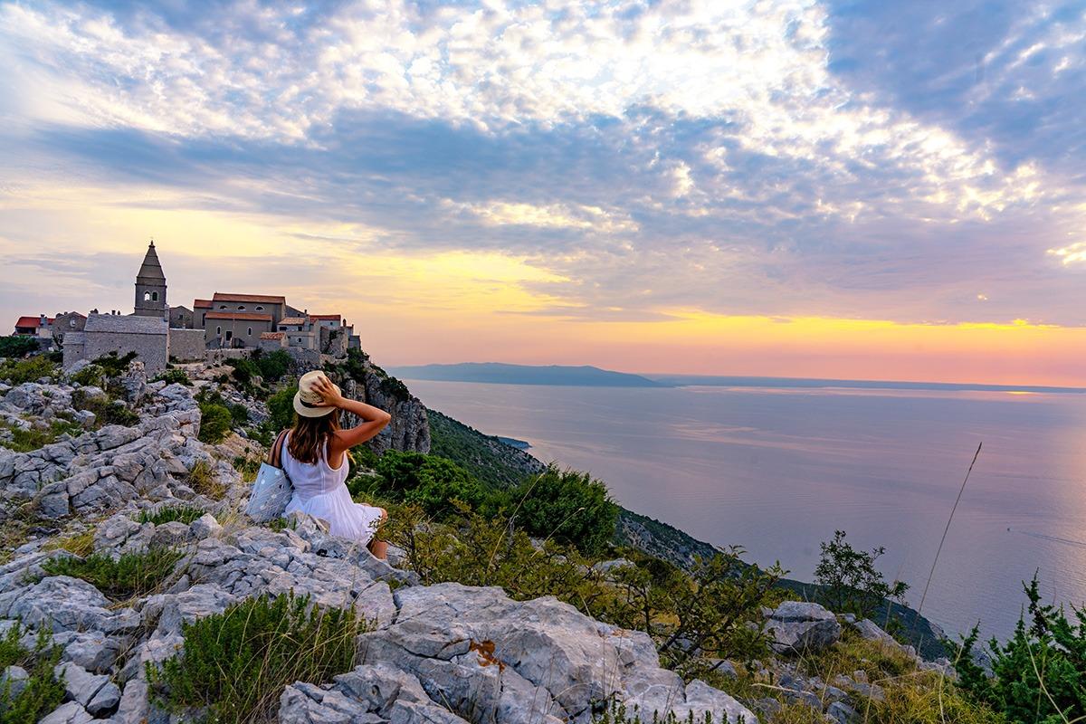 Cres island, Lubenice town, Croatia