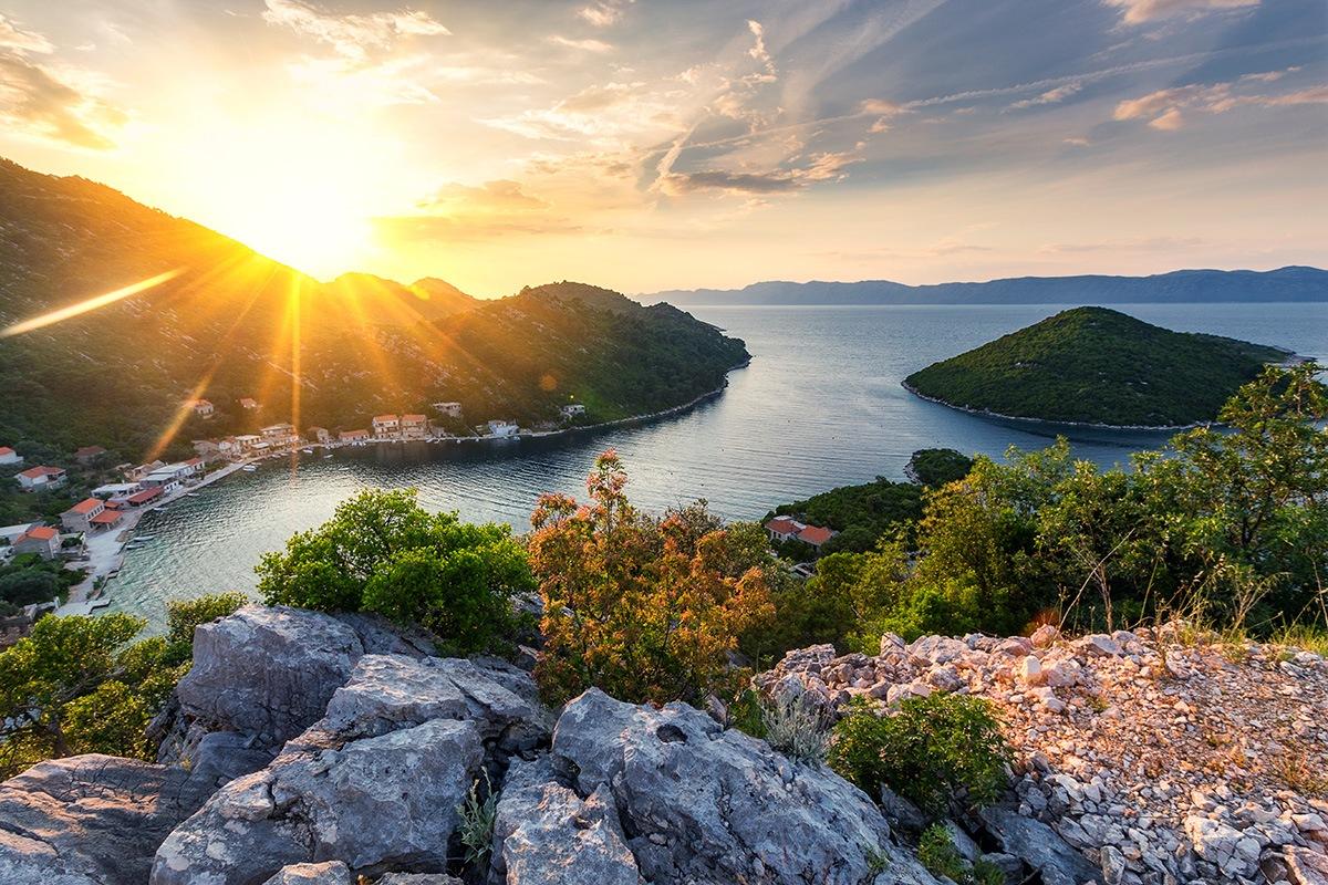 Mljet island, National Park, sunset