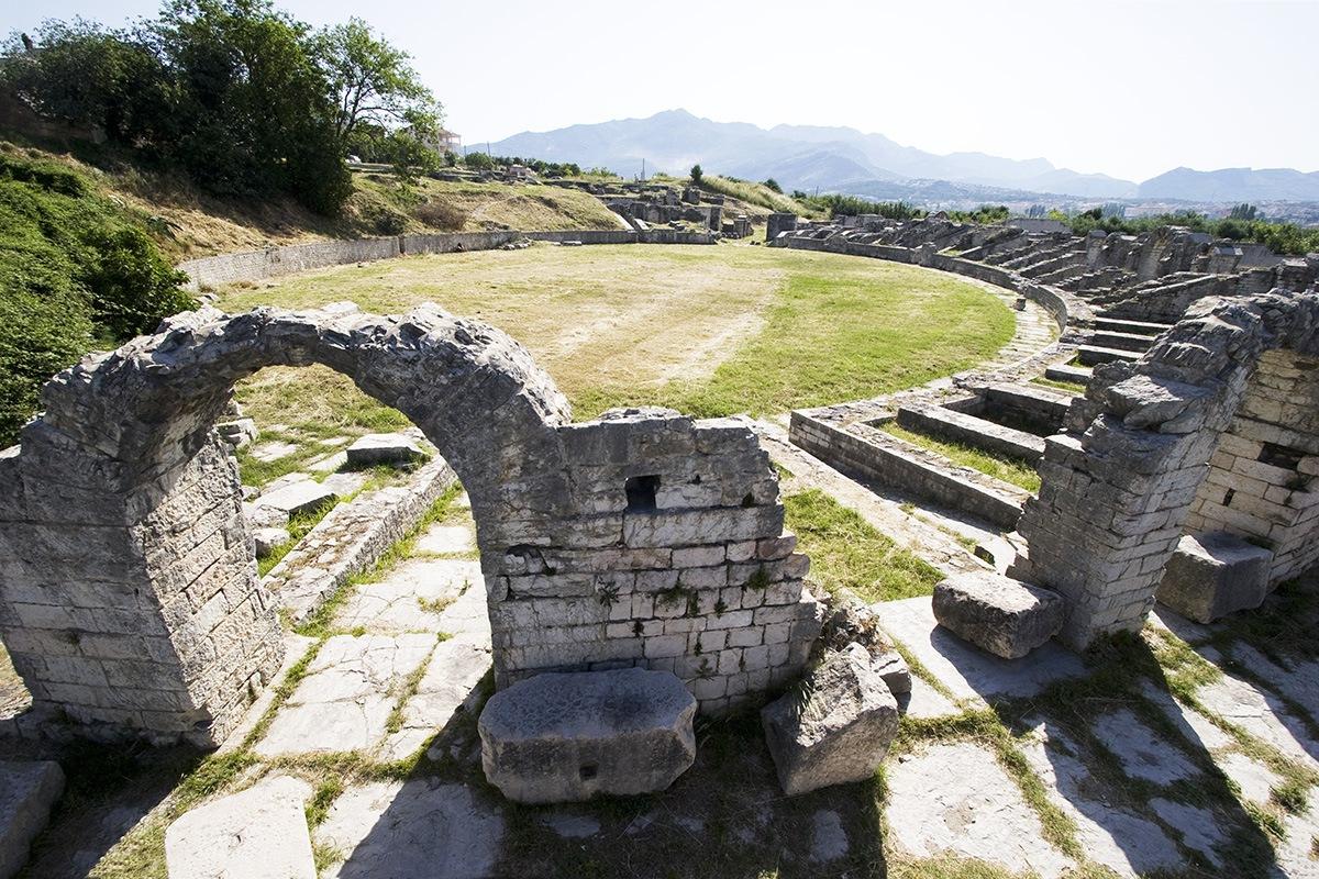 Salona, Solin, Split, Roman amphitheatre, architecture
