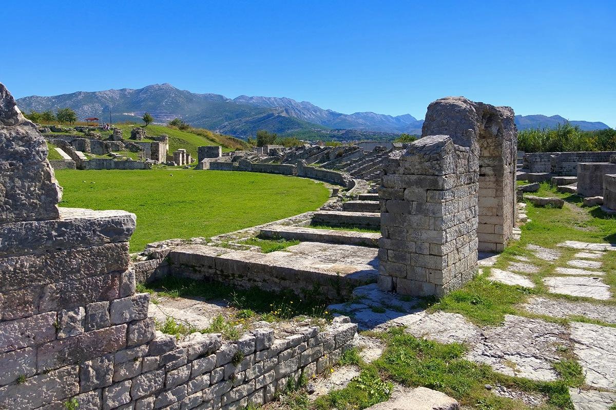 Salona amphitheatre. Split, Solin, Croatia