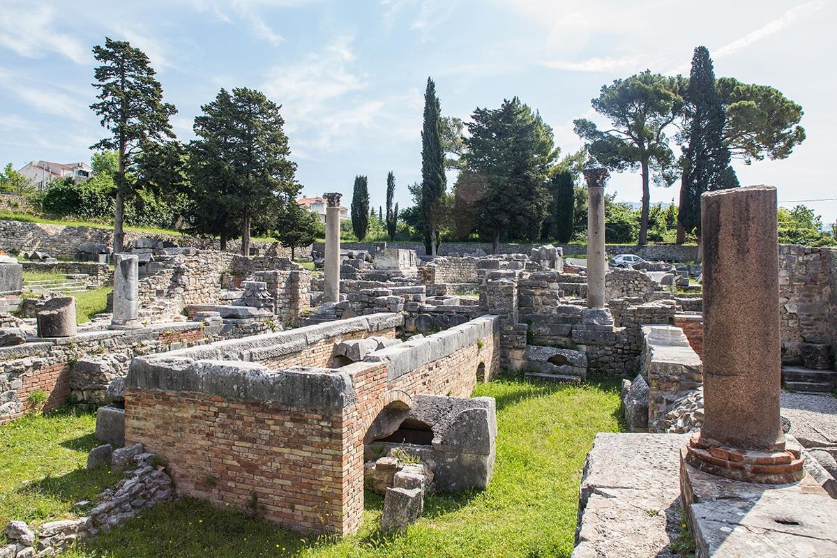 Salona in Solin, Split, Croatia, Roman city.