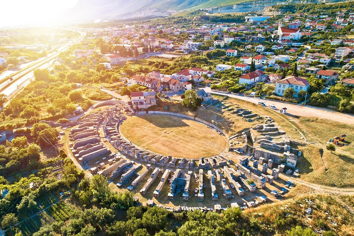 Solin roman ruins, Split, Croatia