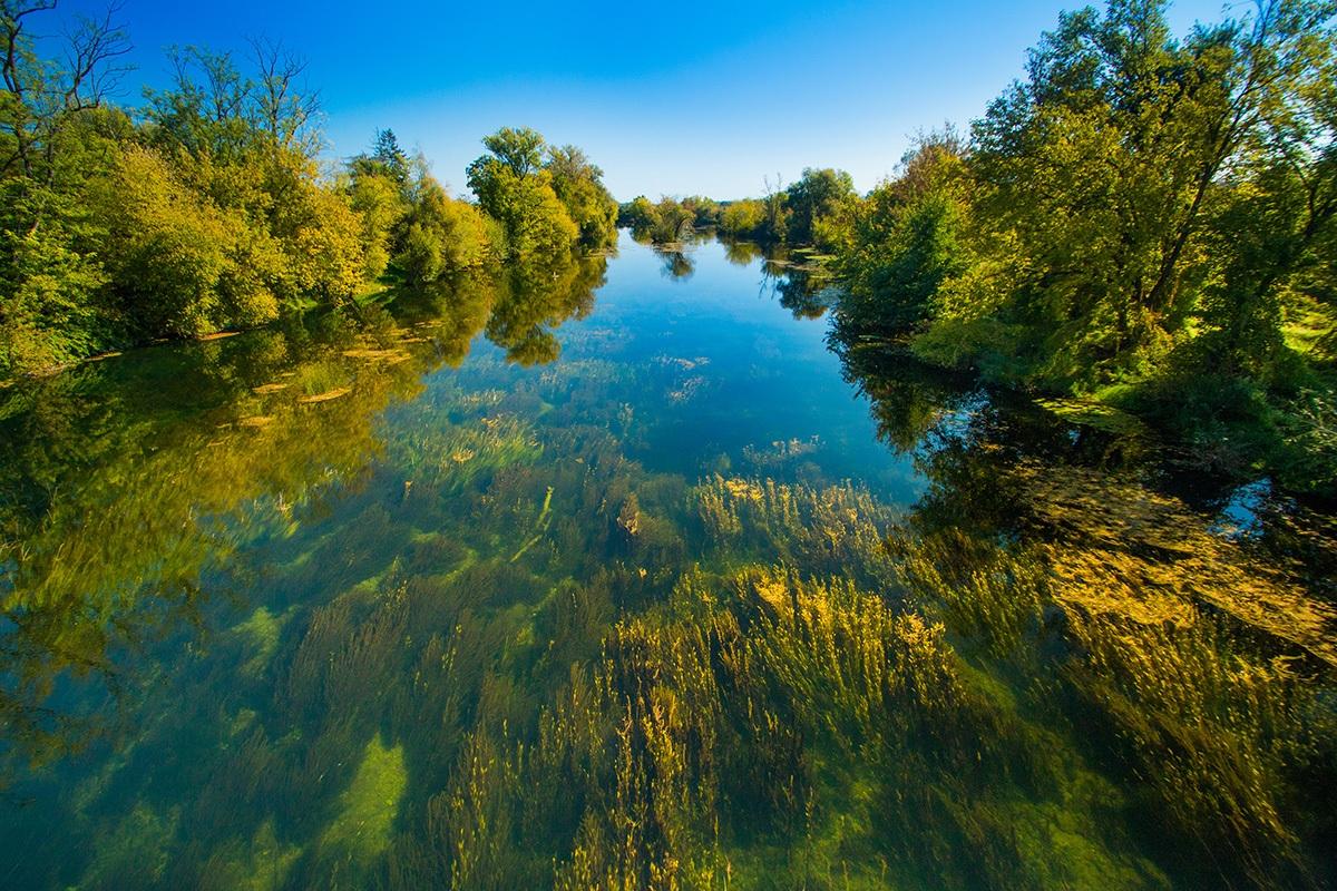 Korana River in Karlovac