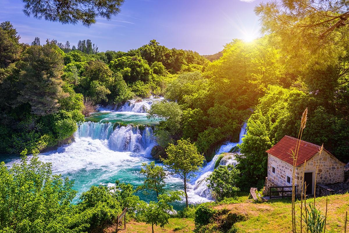 Krka River, Croatia, Mill